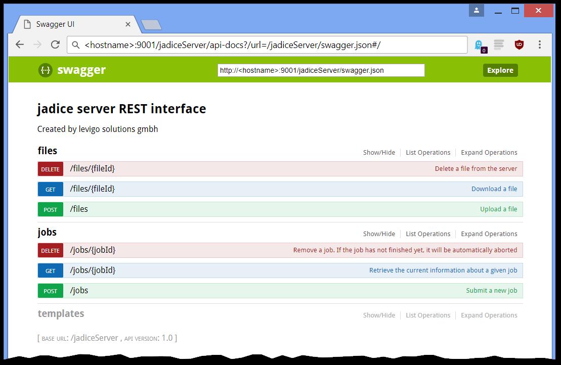 REST Interface - - jadice server Version 5 7 8 0